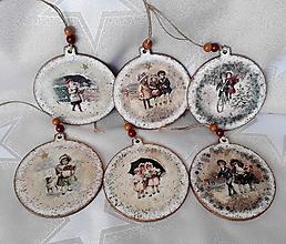 Dekorácie - vianočné vintage ozdoby - 11305975_