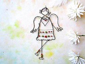 Dekorácie - anjel s ponožkami - 11308203_