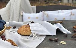Úžitkový textil - Vrecúško na chlieb z ručne tkaného plátna - 11309175_