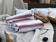 Úžitkový textil - Veľká ručne tkaná utierka s vaflovým vzorom - 11309858_
