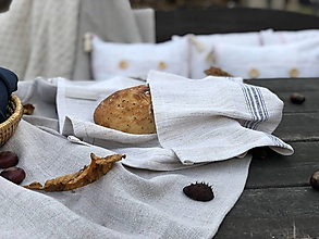 Úžitkový textil - Utierka z ručne tkaného ľanového plátna - 11309215_