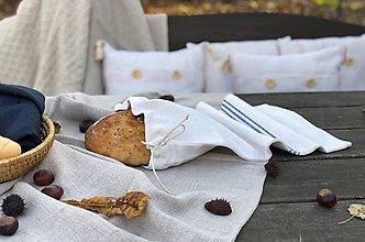 Úžitkový textil - Vrecko na chlieb z ľanového plátna - 11309704_