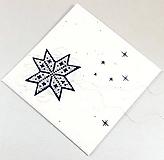 Papiernictvo - Vianočná kométa III - vyšívaná vianočná pohľadnica - 11308880_