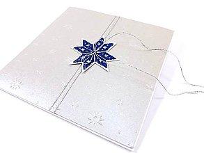 Papiernictvo - Vianočná kométa I - vyšívaná vianočná pohľadnica - 11308769_