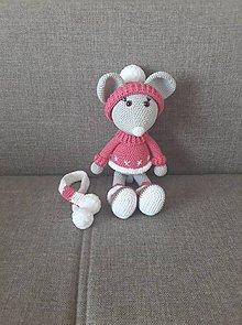 Hračky - Zimná myška :) - 11306851_