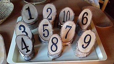 Dekorácie - Číslovanie stolov z brezového dreva - 11311818_