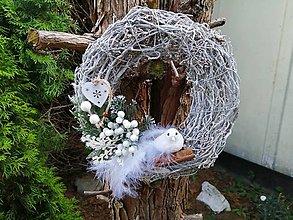 """Dekorácie - Vianočný veniec """"vtáčik"""" - 11313062_"""