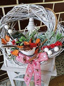 """Dekorácie - Vianočný veniec """"vtáčok"""" - 11313109_"""