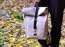 - RollTop ruksak Rolly nepremokavý (piesková)  - 11313169_