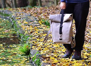 Batohy - RollTop ruksak Rolly nepremokavý (sand) -20% - 11313169_