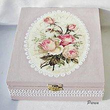 Krabičky - Drevená krabica 9 priečinková -Rose - 11315089_