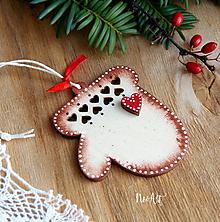 Dekorácie - Vianočná ozdoba Rukavička - 11314009_