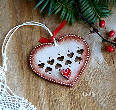 Dekorácie - Vianočná ozdoba Srdiečko - 11314769_
