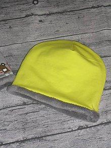Detské čiapky - Detská čiapka neónová s flisom - 11315200_