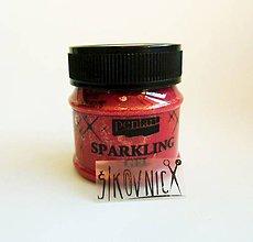 Farby-laky - Trblietavý gel (sparkling gel), 50 ml, červené zlato - 11311764_