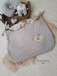 Textil - Veľký plienkovník - vreckár na postieľku  : minky/ 100% bavlna - 11315429_