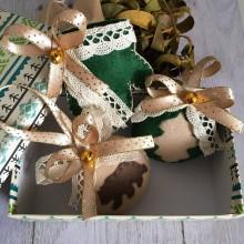 Dekorácie - Vianočné ozdoby - zelený set - 11311946_