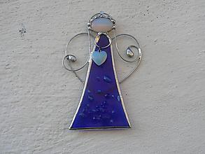 Dekorácie - Roztomilý modrý anjelik - 11311529_