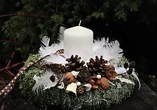 Dekorácie - Vianočný svietnik - 11312854_