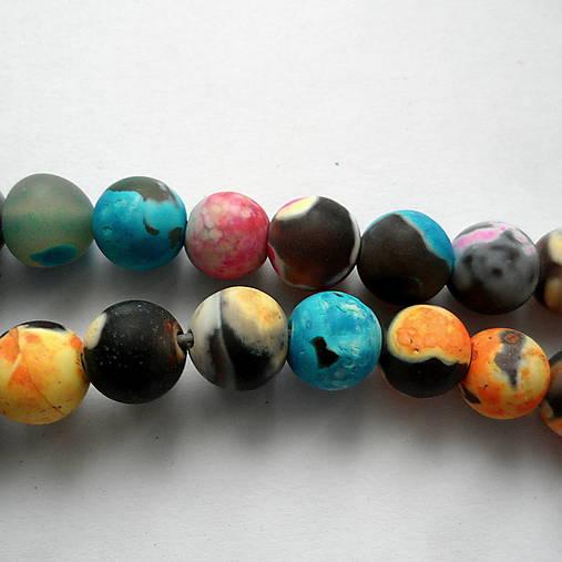 Achát 8mm-1ks (matný multicolor)