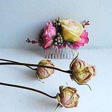 """Ozdoby do vlasov - Kvetinový hrebienok """"Fiona"""" - 11312031_"""