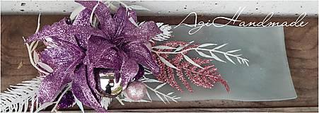 Dekorácie - vianočná dekorácia lila ľalie - 11311146_