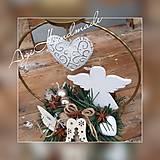 Svietidlá a sviečky - vianočný svietnik na čajovú sviečku s anjelikom - 11311520_