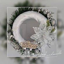 Dekorácie - vianočný veniec na dvere - 11310910_