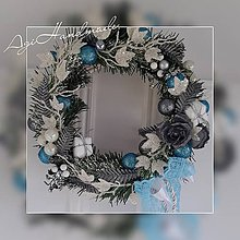 Dekorácie - vianočný veniec na dvere - 11310936_