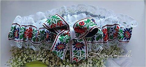 Bielizeň/Plavky - podväzok pre nevestu folk - 11314039_