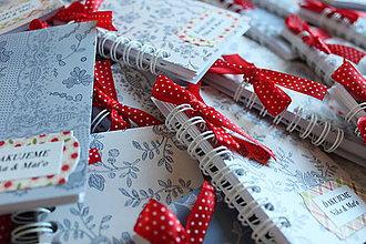 Papiernictvo - Minizápisníčky / darček pre svadobných hostí - 11312224_