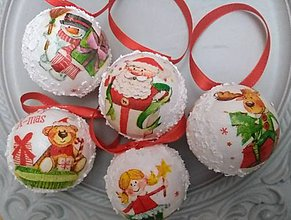 """Dekorácie - Vianočné gule na stromček """"rozprávkové"""" - 11311101_"""