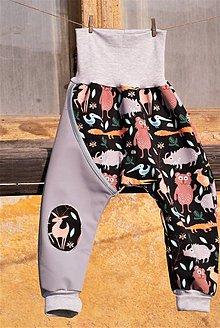 Detské oblečenie - Softshellky lesné zvieratká - 11313443_