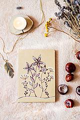 Papiernictvo - Leporelo kreslené* fotoalbum na 14 foto 10*15 cm Kvety na lúke - 11315554_