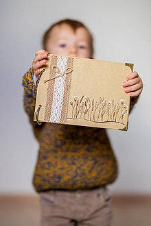 Papiernictvo - Fotoalbum natur Bylinky A5 kreslený - 11315507_