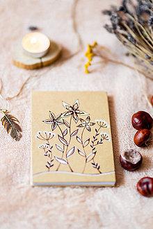 Papiernictvo - Leporelo kreslené* fotoalbum na 14 foto 10*15 cm Kvety na lúke - 11315552_
