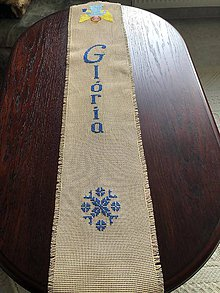 Úžitkový textil - Vianočná štôla s anjelikom - 11313236_