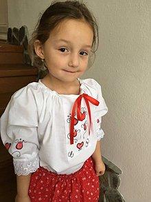 Košele - Malovana bluzka a suknicka - 11314867_