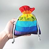 Úžitkový textil - Bavlnené vrecúško dúha - 11315606_