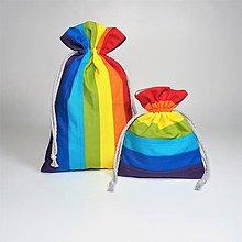 Úžitkový textil - Bavlnené vrecúško dúha - 11315614_
