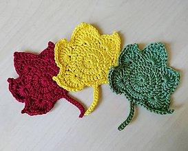 Úžitkový textil - Háčkované podšálky jeseň (Oranžová) - 11312081_