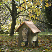 Pre zvieratká - Mačací domček na zimu - 11314930_