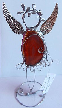 Dekorácie - Cínovaný anjel-Achát - 11313498_