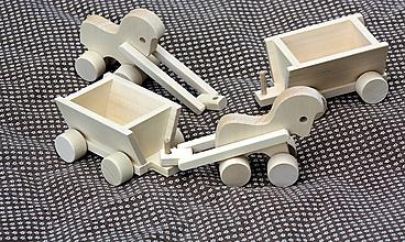 Hračky - Drevené hračky. Koník s vozíkom - 11314052_