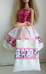 Hračky - Biela koženková kabelka pre Barbie III. - 11315203_