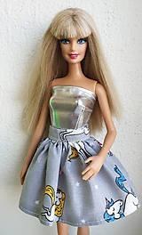 Hračky - Jednorožcová sukňa pre Barbie - 11315214_