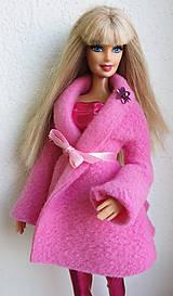 Hračky - Ružový kabátik pre Barbie - 11315251_