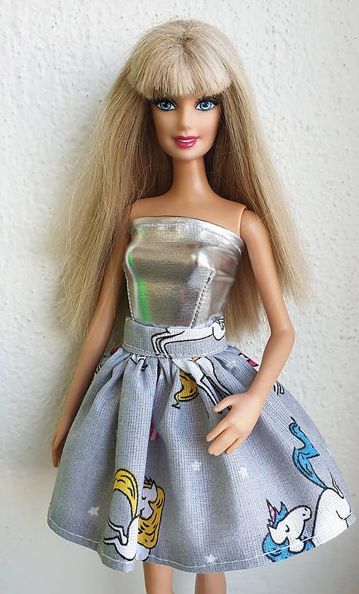 Jednorožcová sukňa pre Barbie