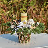 Dekorácie - Vianočný svietnik - 11315540_