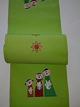 Úžitkový textil - Maľovaný obrus stredový,hráškový, 25 x 140 cm - 11154623_
